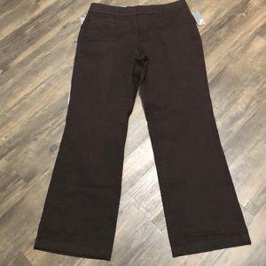 JM Pants/Trousers SZ 12 Brown NWT No Gap Waist